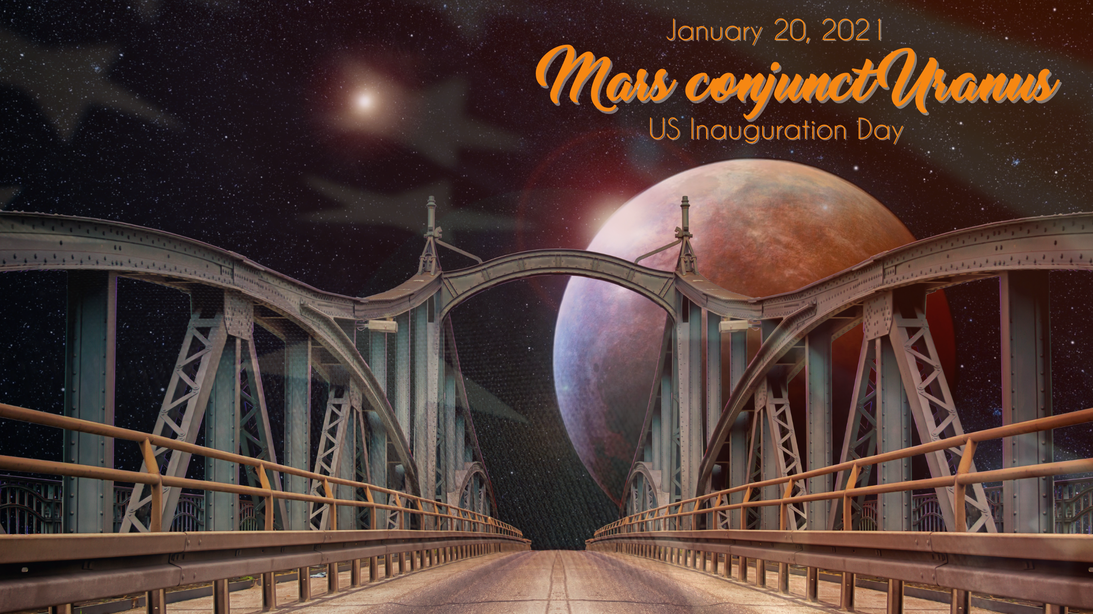 Mars conjunct Uranus – January 20, 2021