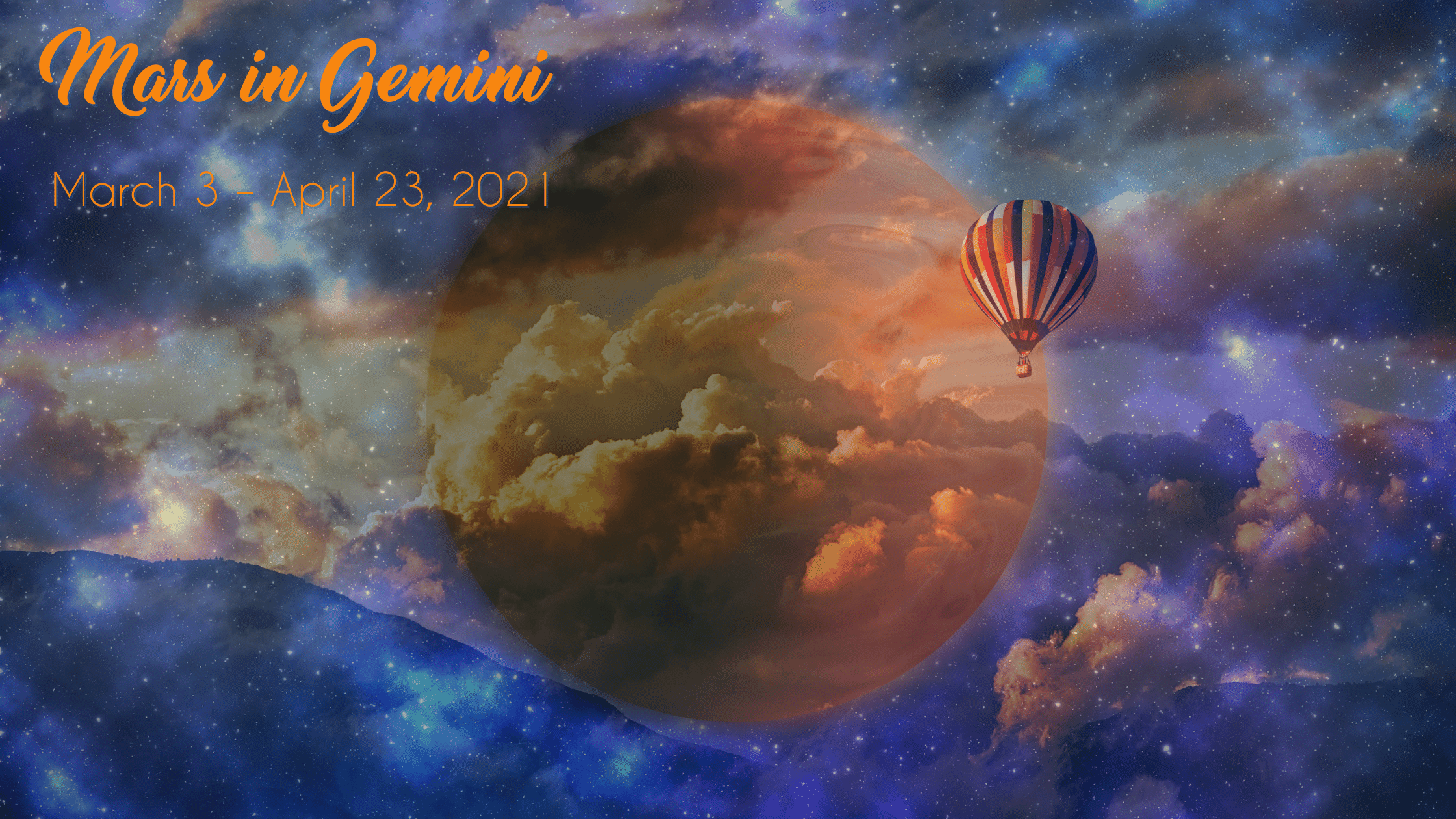 Mars in Gemini – March 3 – April 23, 2021